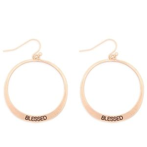 Blessed pinched hope drop earings